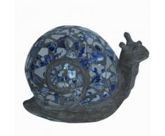 Velda Statua da Giardino con Mosaico a Forma di Lumaca in Poliresina
