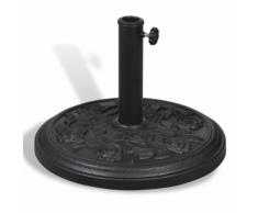 vidaXL Base per parasole ombrellone rotondo in resina