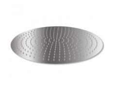 vidaXL Testa Doccia a Pioggia in Acciaio Inossidabile 50 cm Rotonda
