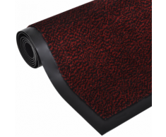 vidaXL Zerbino antiscivolo rettangolare 150 x 90 cm Rosso