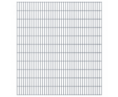 vidaXL Set Pannelli recinzione giardino 2D 2008x2230 mm 10 m grigio