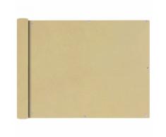 vidaXL Tenda da sole per balcone in tessuto Oxford 90 x 400 cm beige