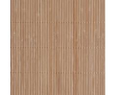 vidaXL Carta da parati in bambù 1,5 x 10 m marrone