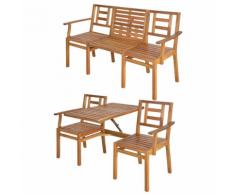 Esschert Design Seattle BL055 Panchina convertibile di legno