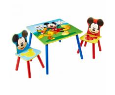Disney 3 Pz Set Tavolo e Sedie Mickey Mouse in Legno WORL119014