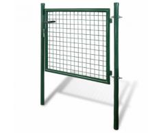 vidaXL Cancello recinto per giardino rete griglia 85,5 x 75 cm / 100 125