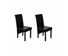 vidaXL Sedie pranzo e soggiorno con schienale lavorato, 2x, nere