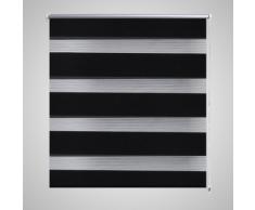 vidaXL Tenda a rullo oscurante zebra 120x175 cm nera
