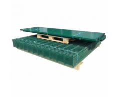 vidaXL Pannelli Recinzione Giardino e Paletti Verde 2008x1030 mm 24m