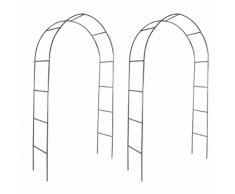 vidaXL 2x arco da giardino per piante rampicanti