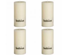 Bolsius Candela Pilastro Rustica 200 x 100 mm Bianco avorio 4 pezzi