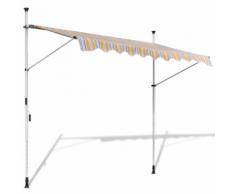 vidaXL Tenda da Sole a Scomparsa 250 cm ad Azionamento Manuale Giallo/Blu