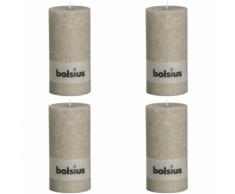 Bolsius Candela Pilastro Rustica 200 x 100 mm Grigio ghiaia 4 pezzi