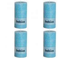 Bolsius Candela Pilastro Rustica 200 x 100 mm Blu 4 pezzi