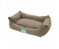 Overseas Cuccia per cani in tela 60x40x18 cm sabbia