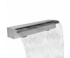 vidaXL Fontana a cascata da giardino rettangolare acciaio inossidabile 60 cm