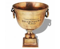 vidaXL Trofeo Coppa Champagne Cooler Rame Marrone