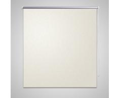 vidaXL Tenda a rullo oscurante buio totale 120 x 175 cm bianca ecrù