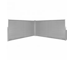 vidaXL Tenda da sole laterale retrattile 160x600 cm grigia