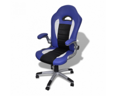 vidaXL Blu sedia ufficio in pelle design moderno