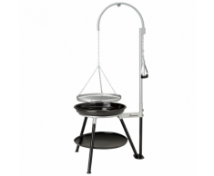 Landmann Barbecue a Carbone Treppiedi Geos 53 cm Nero e Argento 11064