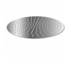 vidaXL Testa Doccia a Pioggia in Acciaio Inossidabile 40 cm Rotonda