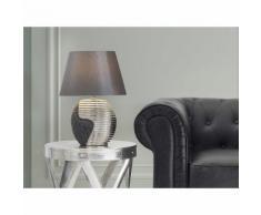 Beliani Lampada - Da tavolo comodino Colore nero/argento ESLA