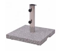 vidaXL Base per parasole ombrellone in granito 20kg