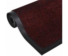 vidaXL Zerbino antiscivolo rettangolare 90 x 60 cm Rosso
