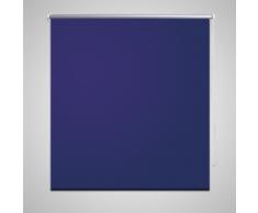 vidaXL Tenda a rullo oscurante buio totale 140 x 175 cm blu marino