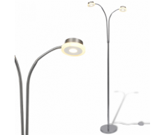 vidaXL Lampada da terra regolabile a due braccia con 2 LED di 5 W
