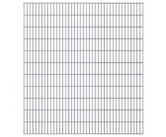 vidaXL Set Pannelli recinzione giardino 2D 2008x2230 mm 34 m grigio