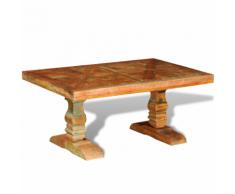 vidaXL Tavolino per caffè stile antico in legno anticato massello