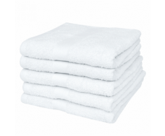 vidaXL Set 25 pz Asciugamani albergo cotone 100% 400 gsm 70 x 140 cm bianchi