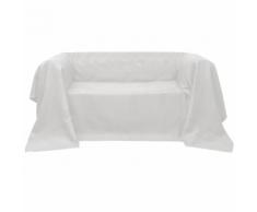 vidaXL Fodera per divano in micro-camoscio crema 270 x 350 cm