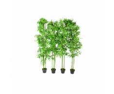 vidaXL Piante ornamentali da interno set di 4 bambù 190 cm
