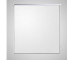 vidaXL Tenda a rullo oscurante buio totale 80 x 230 cm bianca