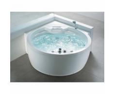 Beliani Vasca idromassaggio angolare da interno - spa tonda MILANO
