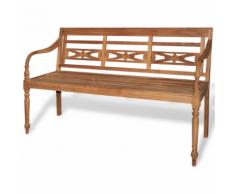 vidaXL Panchina batavia in legno di teak a 3 posti 150 cm