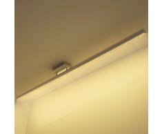 vidaXL Luce LED Soffitto Acciaio Inossidabile Bianco Caldo 15 W