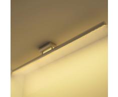 vidaXL Luce LED Soffitto Acciaio Inossidabile Bianco Caldo 12 W