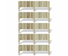 vidaXL Set 5 pz Palizzata Recinzione Giardino in Legno 120 cm