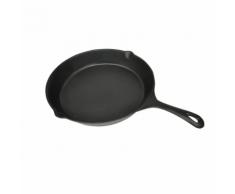 vidaXL XL Barbecue padella in ferro per fritto 30 centimetri piano circolare