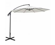 vidaXL Ombrellone parasole cantilever Banana colore bianco sabbia 3 m