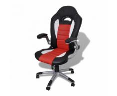 vidaXL Sedia ufficio in pelle design moderno rosso