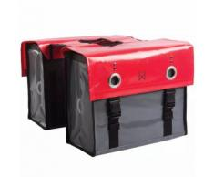Willex Borsa Portariviste da Bici 52 L Rosso e Grigio Scuro 10929