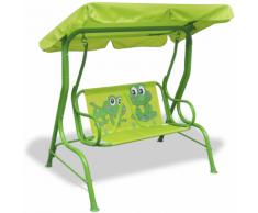 vidaXL Altalena per bambini verde