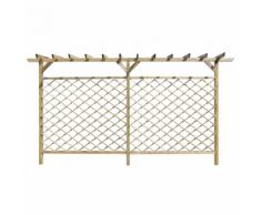 vidaXL Recinzione di lattice con pergolato per giardino