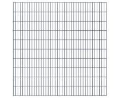 vidaXL Set Pannelli recinzione giardino 2D 2008x2030 mm 36 m grigio