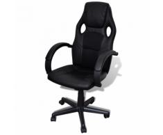vidaXL Sedia ufficio professionale design esclusiva nera
